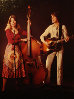 William and sister Nanette on tour together 1976.