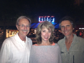 With brother John and sister Nanette, 2014
